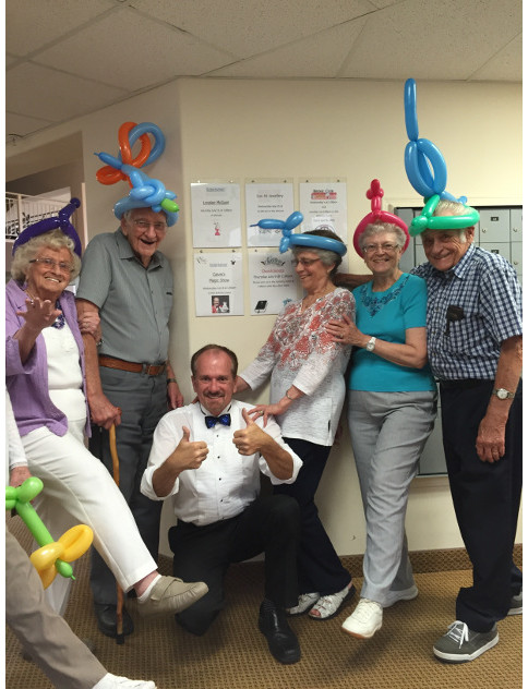 Group in balloon hats