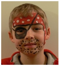 Photo of youth after face painting