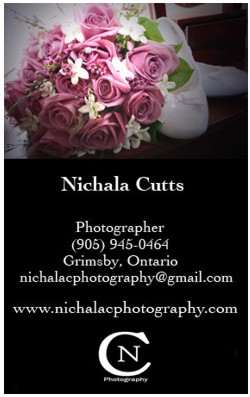 NichalaC photography business card
